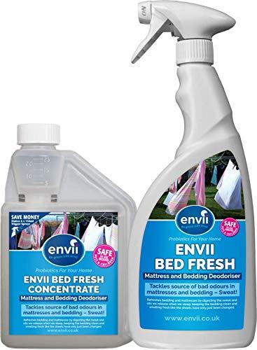 Envii Bed Fresh - Deodorante Spray Per Materassi e Lenzuola, Pulisce e Neutralizza Gli Odori - (Concentrato da 500ml e Bottiglia Spray 750 ml)