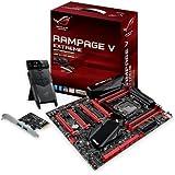 Asus ROG Rampage V Extreme/USB 3.1 Gaming Mainboard Sockel 2011-3 (ATX, Intel X99, 8x DDR4-Speicher, 10x SATA 6Gb/s, USB 3.1 Extension Karte, PCIe 3.0, M.2)