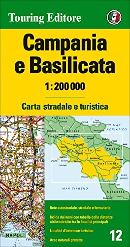 Campania e Basilicata 1:200.000. Carta stradale e turistica