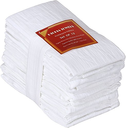 Strofinacci - canovacci - asciugapiatti (12 pacco, 71 x 71 cm) - 100% cotone - multiuso, altamente assorbente - di utopia kitchen