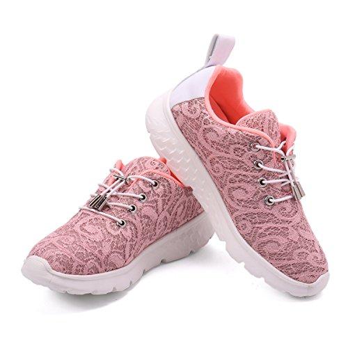 gracosy Fiber Optical Schuhe, Damen LED Sneaker Blinkt Sport Leuchten USB Lade Laufen Wanderschuhe Outdoor Rutschfeste Lightweight Gym Gesundheit Ausbildung Fitness Wiederaufladbare ()