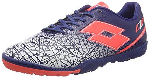 lotto-sport-s3965-chaussures-de-football-homme-bleu-blu-twi-red-fl-45-eu