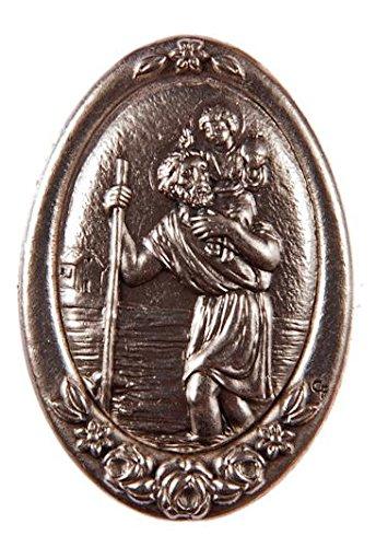 Religiöse Magnete.Magnetische Platte mit dem Bild von Heiligen Cristoforo, Schutzer den Fahrer