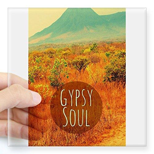 CafePress Gypsy Soul Aufkleber Large - 5x5 farblos -