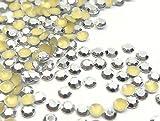 Hotfix Octagon 5mm Metall Stud Nieten Silber Farbe 1800Stk, SS20 zum Aufbügeln, Hotglue, Halbperlen 332