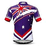 Weimostar Radfahren Jersey Herren Radfahren Kleidung Fahrrad Jersey Top Mountain Road MTB Jersey Shirt Kurzarm Atmungsaktive Team Sport Australisches Blau Größe XXL