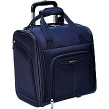 AmazonBasics Underseat Trolley Luggage, Navy Blue