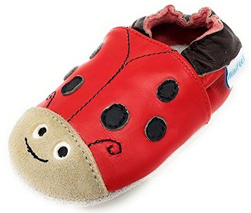 MiniFeet Lusso Scarpe di Bambino di Cuoio Molli, Ragazzi Blu Sandalo 18-24 Mesi