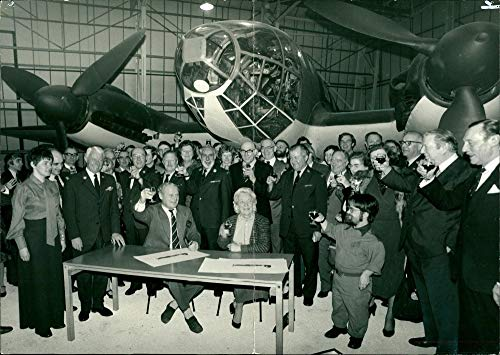 Fotomax Vintage Photo of Sir Douglas Bader with Guests Celebrating his Birthday at The Battle of Britain Museum