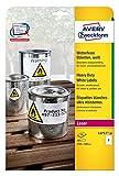 AVERY Zweckform L4717-20 Wetterfeste Folien-Etiketten (A4, 40 Stück, 210 x 148 mm, 20 Blatt) weiß
