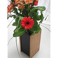 Modern Designer Vase, in legno di quercia e ardesia, design moderno e di stile - Ardesia Outdoor Patio