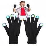 DMbaby Geschenke für Kinder ab 6-10 Jahre, Geschenke für Mädchen Jungs LED Blinklicht Bunte Rave Party Handschuhe Weihnachten G07