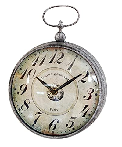 NIKKY HOME Vintage Pocket Watch Design Metal Wall Clock with