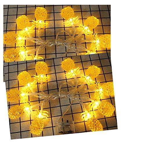 Led Lichterkette, Love shang Lv Ananas Form Led Lichterkette für die Dekoration (Ananas - warmweiß)