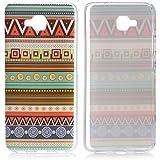 tinxi®(without Fingerprint) Design Silikon Schutzhülle für Huawei Honor 5C 5,2 Zoll Hülle Rückschale Schutz Hülle Silicon Case Indian Streifen Tribal Muster in grün