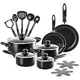 Chefs Star Ensemble de casseroles et de casseroles en aluminium 17 pièces
