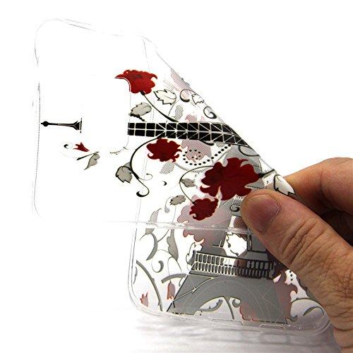 Voguecase® für Apple iPhone 6 / 6s (4,7 Zoll) , Schutzhülle / Case / Cover / Hülle / Ultra Slim Fit TPU Gel Skin (Pink Anchors) + Gratis Universal Eingabestift Rot Blume Turm