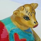 Regalo festivo di Pasqua - Portaburro in porcellana dipinte a mano in forma di mucca, disegno originale 'Cleopatra'. Lussuoso cofanetto regalo per le donne, la casa e la cucina per Pasqua