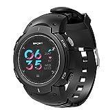 Miya System Ltd Smart-Armband,Bluetooth Smart Sport Fitness F13 Uhr Fitness Tracker mit Schrittzähler, geeignet für eine Vielzahl von Sportarten wie Schwimmen, Laufen, Tanzen, Tischtennis, Basketball, etc., runden bunten Touchscreen, kompatibel mit Android und iOS-Systemen(schwarz)