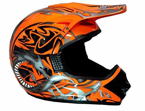 WinNet Casco da moto cross quad miniquad DH omologato Arancio KTM