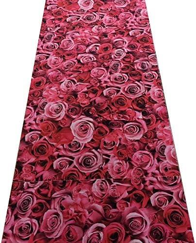 HAIPENG-Tappeto corridoio Passatoia rosa Cucina rosa Passatoia Corridore Romantico 3D Tappeti per Soggiorno Sala da Pranzo Ingresso Contemporaneo, 6mm (Coloreee   A, Dimensioni   0.8x4m) 368300