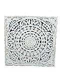 DonRegaloWeb - Mandala Tallado de Madera Calada en Color Blanco decapado