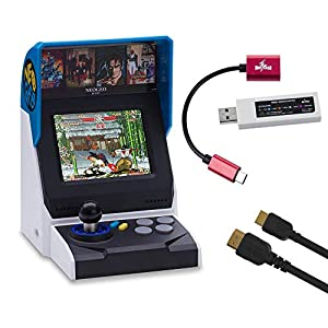 NEOGEO Mini Console: International Edition plus MayFlash Controller Converter and HDMI Cable Bundle (Includes 40 Games)