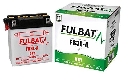 Honda MCX 80 S, MTX 80 RS, MTX 125 RW, MTX 200 RW, FB3L-A, DIN50312 DRY Fulbat Batterie m. Säurepack