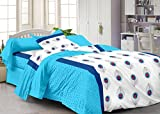 #8: Story@Home 120 TC Cotton Single Bedsheet with Pillow Cover - White