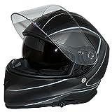 Protectwear Motorradhelm Integralhelm V127-GR mit Sonnenblende matt-schwarz - L