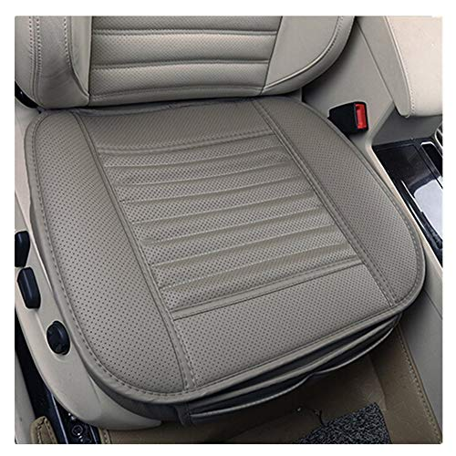 AOUTOS 2 Stücke PU Leder Bambus Holzkohle Breathable Komfortable Autozubehör Sitzbezüg Vier Jahreszeiten General Autozubehör Einzelsitzbezüge (Gray-2 Stücke)