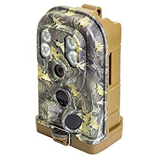 1080p HD Waterproof Wildlife Hunting Trail Camera with PIR Triggering, 12MP stills, MicroSD Recording, 940nm Invisible IR night vision, Totally Cable Free