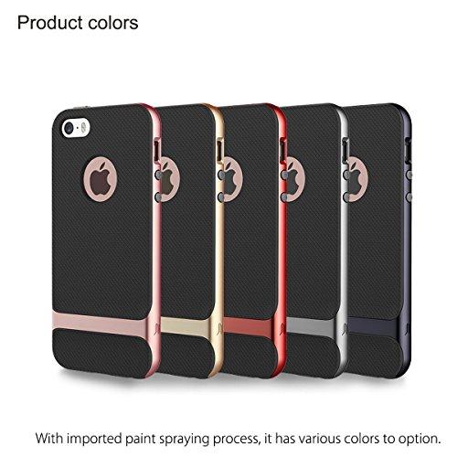 Coque ROCK Royce Ultra Résistante Antichoc Housse pour iPhone 5 5S - Or rose gold
