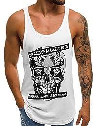 c7c298506a44 OZONEE Herren Tanktop Tank Top Tankshirt T-Shirt mit Print Unterhemden  Ärmellos Weste Muskelshirt Fitness