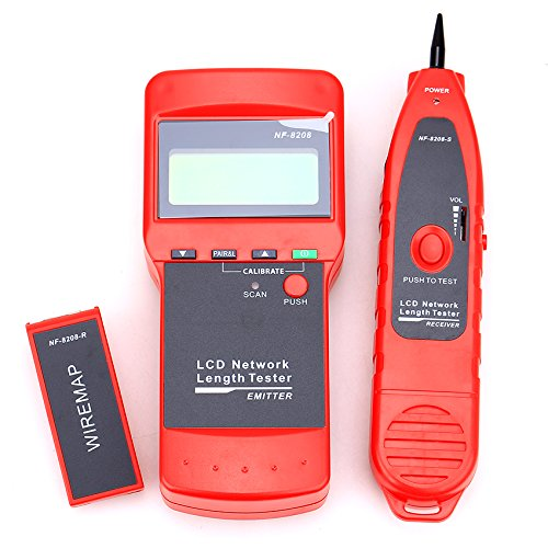 NF-8208 LCD Display Network LAN Cable Tester Wire Tracker Tracer Length Scanner Tester by Cruiser