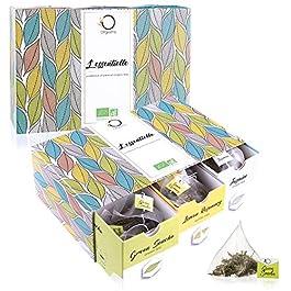 ☘️ Cofanetto TE BIO L'ESSENTIELLE | Confezione Regalo | Assortimento di 6 gusti diversi: Tè Verde, Earl Grey, Rooibos…