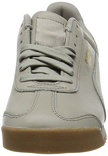 Puma Roma Classic Gum, Sneakers Basses Mixte Adulte Gris (Rock Ridge-puma Team Gold)