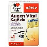 Doppelherz Augen Vital Kapseln mit Lutein + Zeaxanthin – Nahrungsergänzungsmittel mit Vitamin A und Zink als Beitrag für den Erhalt der Sehkraft - plus Vitamin C & E – 1 x 30 Kapseln