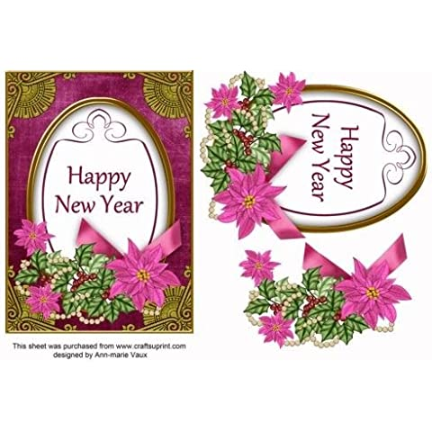 Ciliegia Stella Felice Anno Nuovo Ovale 7x 5Step by Step by Ann-Marie Vaux