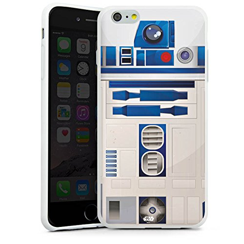 Apple iPhone 5s Hülle Case Handyhülle Star Wars Merchandise Fanartikel R2D2 Silikon Case weiß