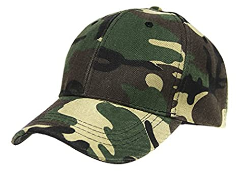 Mens Boys Camouflage Baseball Cap Sun Protection Large Visor Summer Sun Hats Headwear Breathable Outdoor Sports Cycling Camping Fishing Hunting Travel Beach Tennis Golf Baseball Hat Cap