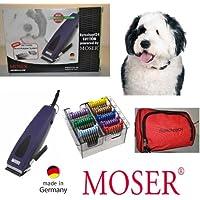 Rotschopf24 Edition: Echte Premium Hunde - Schermaschine + acht Edelstahlaufsätze. Besonders stark und ratsam für dichtes / krauses /langes Fell. 40053