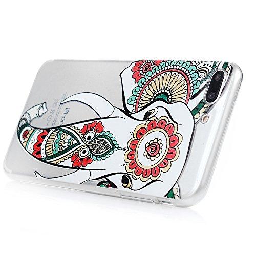 Mavis's Diary Coque iPhone 7 Plus(5.5 inch) TPU Souple Pissenlit Dessin Housse de Protection Étui Téléphone Portable Phone Case Cover+Chiffon motif 8