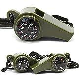 Slri Überlebens-Pfeife 3in1 mit dem Kompass-Thermometer, Das Notfallausrüstung im Freien wandert