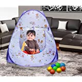 Classic Mosquito Net Printed Play Tent House for Kids, 90x90x100cm (Multicolour)