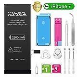 Yaber Batteria per iPhone 7, 2200mAh Batteria sostitutiva ad alta capacità 0 Ciclo, Kit attrezzi professionali completi con istruzioni [Solo per ip7]