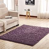 Moderne Seide Haar Teppich Wohnzimmer rechteckigen Couchtisch Schlafsofa Teppich Bodenmatte, Grau...