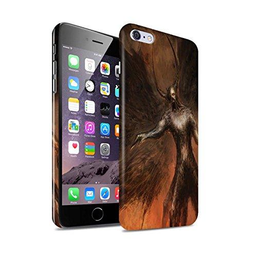 Offiziell Chris Cold Hülle / Glanz Snap-On Case für Apple iPhone 6S+/Plus / Pack 10pcs Muster / Dunkle Kunst Dämon Kollektion Schwarzen Flügeln