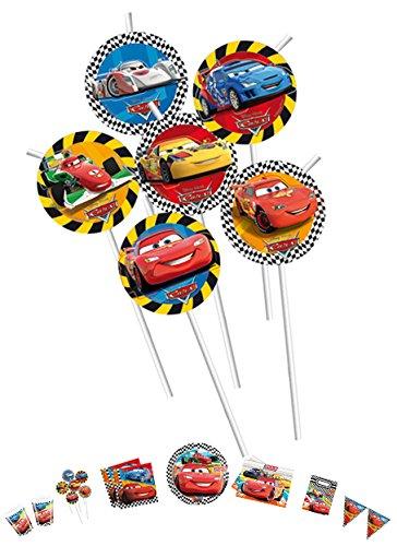 Procos Cars 2 Medallion Flexi Trinkhalme Variante 2 -