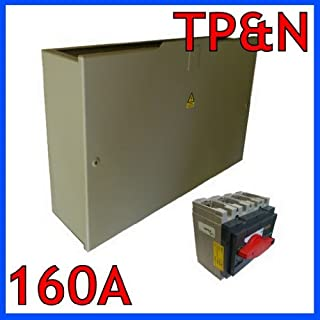 Merlin Gerin 160A Incomer Switch Isolator Disconnector TP&N With Electrical Add-On enclosure Box For Type B Electrical Distribution Boards Industrial Heavy Duty Electrical Machinery by Merlin Gerin